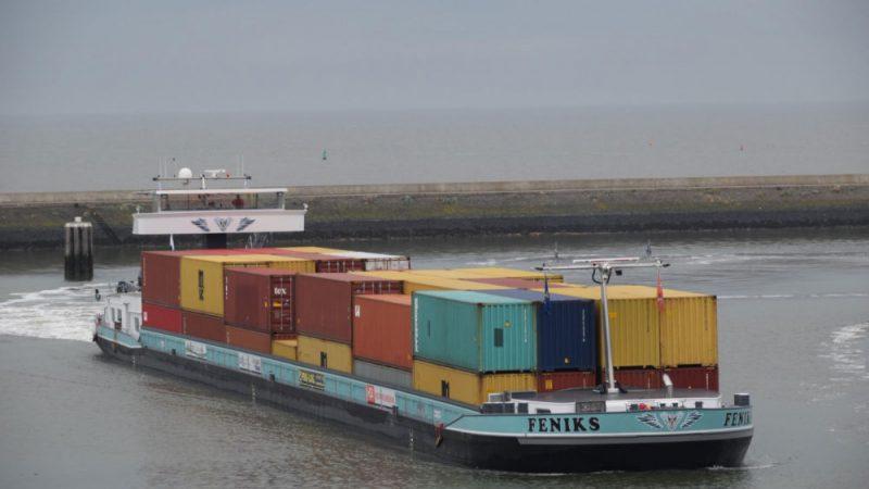 Binnenvaart container vervoer