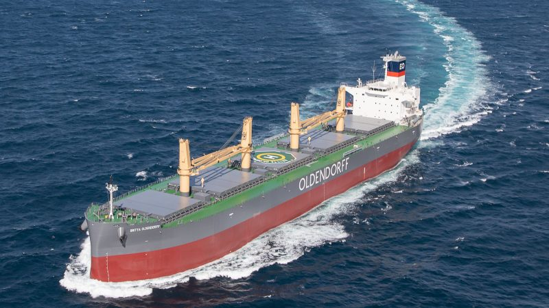 De Britta Oldendorff is een van de schepen die wordt gemaakt voor China. (Foto Oldendorff)