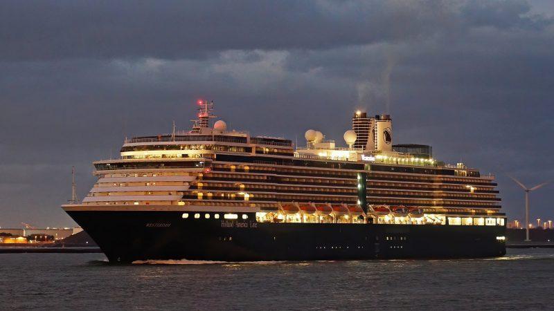 De Westerdam kwam voor onderhoud naar de haven van Rotterdam. (Foto Port of Rotterdam)