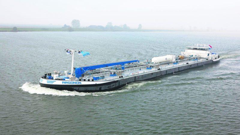 Het mts Argonon van Deen Shipping heeft de eerste retrofitkit inmiddels getest. (Archieffoto Schuttevaer)