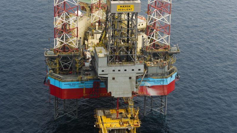 De Maersk Resilient boort in de Nederlandse sector. (Foto Maersk Drilling)