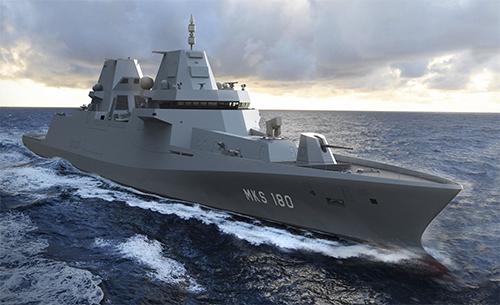 vier MKS-180 fregatten.