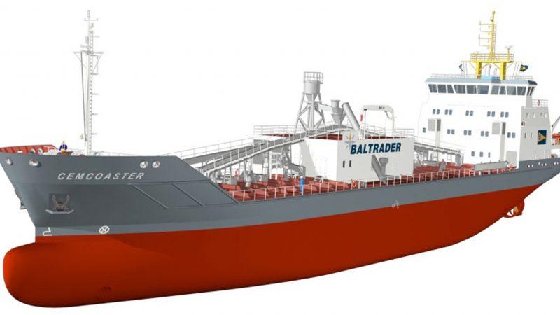 Het samenwerkingsverband tussen Brise en Baltrader krijgt 4,8 miljoen euro voor de ombouw van twee cementvrachtschepen. (Foto Baltrader)