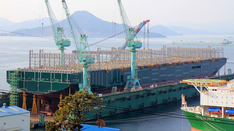 De Ever Ace is nog in aanbouw, maar moet in juli 2021 klaar zijn (Foto Shipspotting.com)