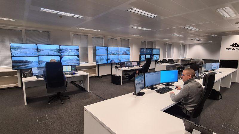 Het Shore Control Center van Seafar, van waaruit de poedertanker Gamma wordt gecontroleerd. (Foto Seafar)