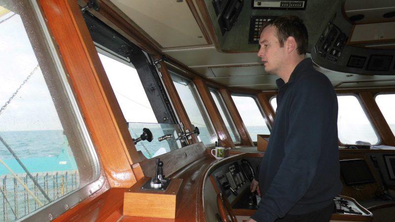 Schipper Jan Marijs maakte voor de jaarwisseling nog een reisje vanuit Hanstholm. (Foto W.M. den Heijer)