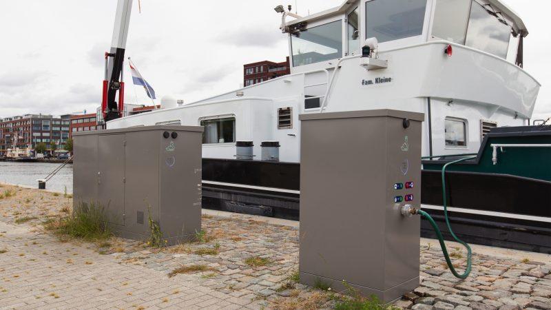 Walstroom wordt aangelegd in de haven van Gent. (Foto Park-Line Aqua)