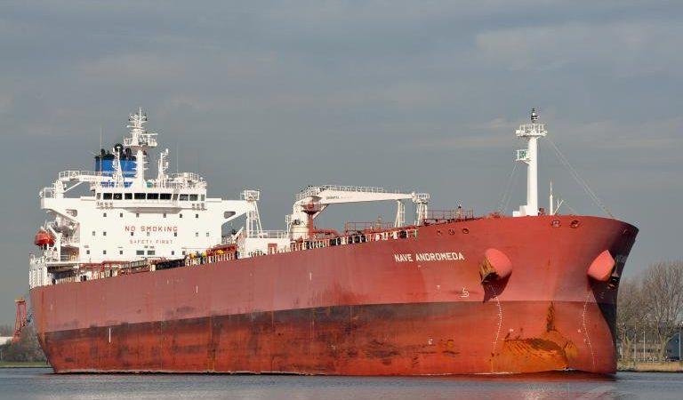 De tanker Nave Andromeda. (Foto Vesselfinder)