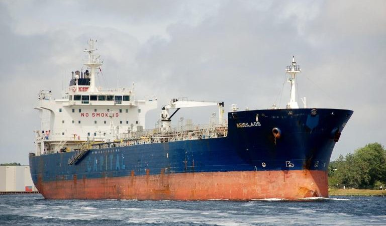 De tanker Agisilaos. (Foto VesselFinder)