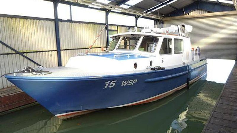 De 11,50 meter lange politieboot WSP 15. (Foto Vebeg)