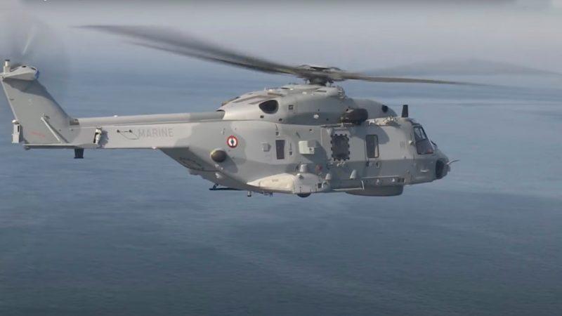 Er werd onder meer gezocht met een Caïman-helikopter van de Franse marine (Foto Marine Nationale)