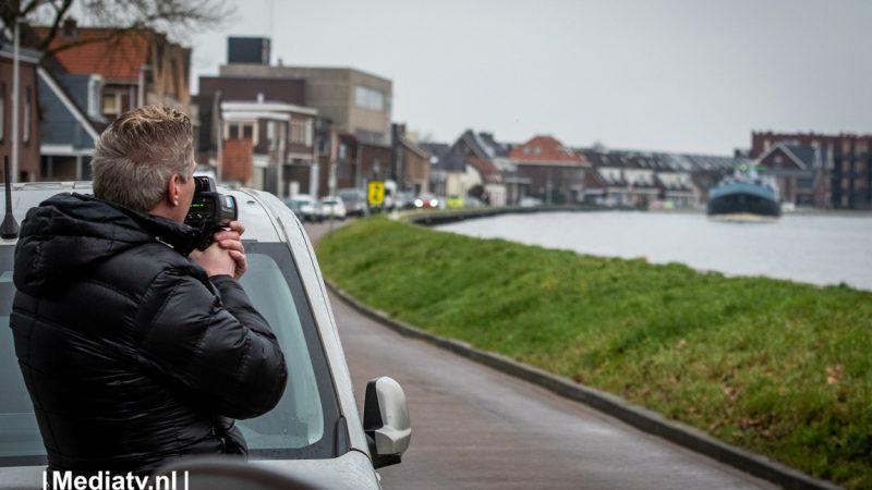 Snelheidscontrole op de Gouwe (Foto Media TV - Josh Walet)