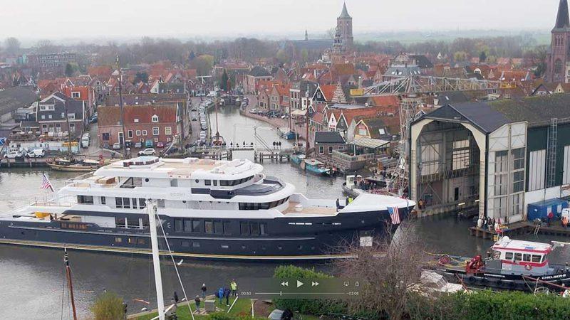 De Scout is met een lengte van 63,72 meter het grootste jacht dat Hakvoort Shipyard tot nu toe heeft gebouwd. (Foto Hakvoort Shipyard)