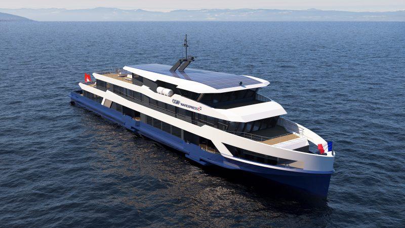 Artist's impression van een van de twee hybride veerboten die Shiptec AG voor CGN bouwt.
