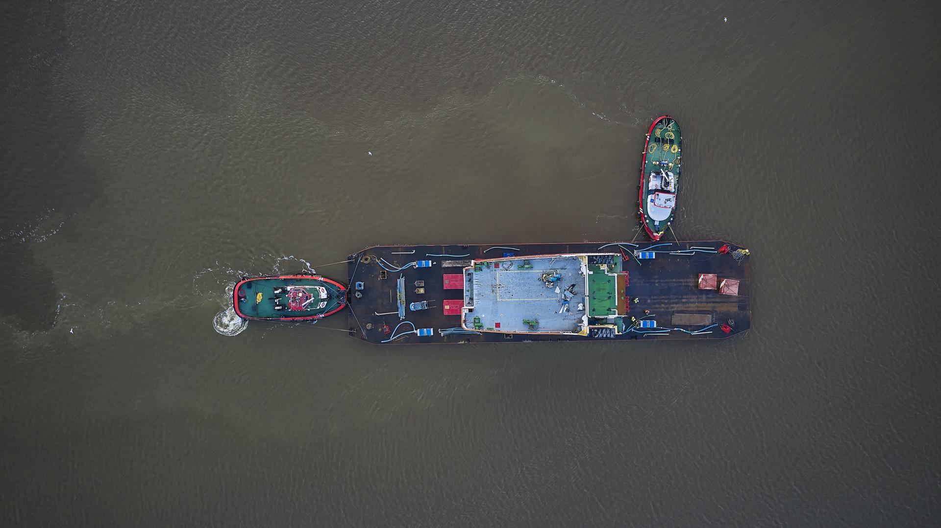 Het passagierschip Münsterland moet op LNG gaan varen. (Foto Niestern Sander)