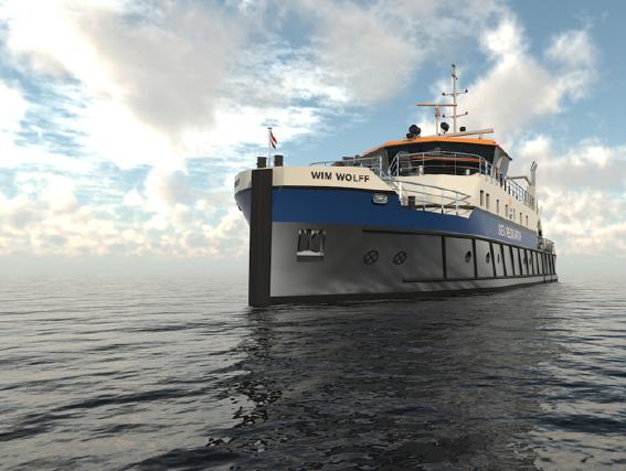Wim Wolff zal het schip gedoopt worden, naar de toonaangevende Nederlandse zeeonderzoeker Professor Wim J. Wolff die in 2018 overleed. (Foto Thecla Bodewes Shipyards)