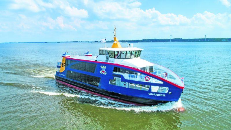 De Gaarden is het prototype van de drie hybride ponten die FSK nu heeft besteld bij Holland Shipyards. (Foto Holland Shipyards)