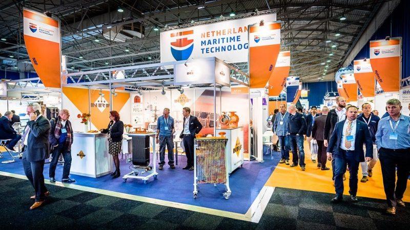 Het Nederlandse paviljoen tijdens Nor-Shipping 2019. (Foto NMT)