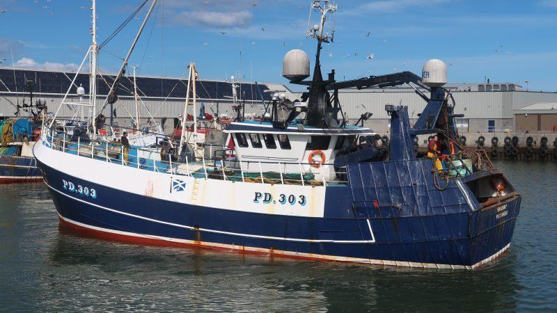 De Schotse rondvisvloot snoept een fiks deel van vooral het Deense kabeljauwquotum af. (Foto W.M. den Heijer)