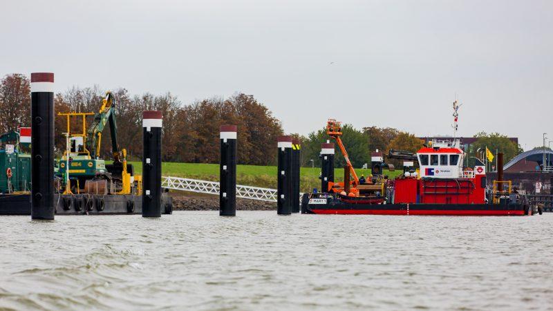 Strukton voerde eerder al werk uit aan de overnachtingshavens op de Merwede. (Foto Strukton)