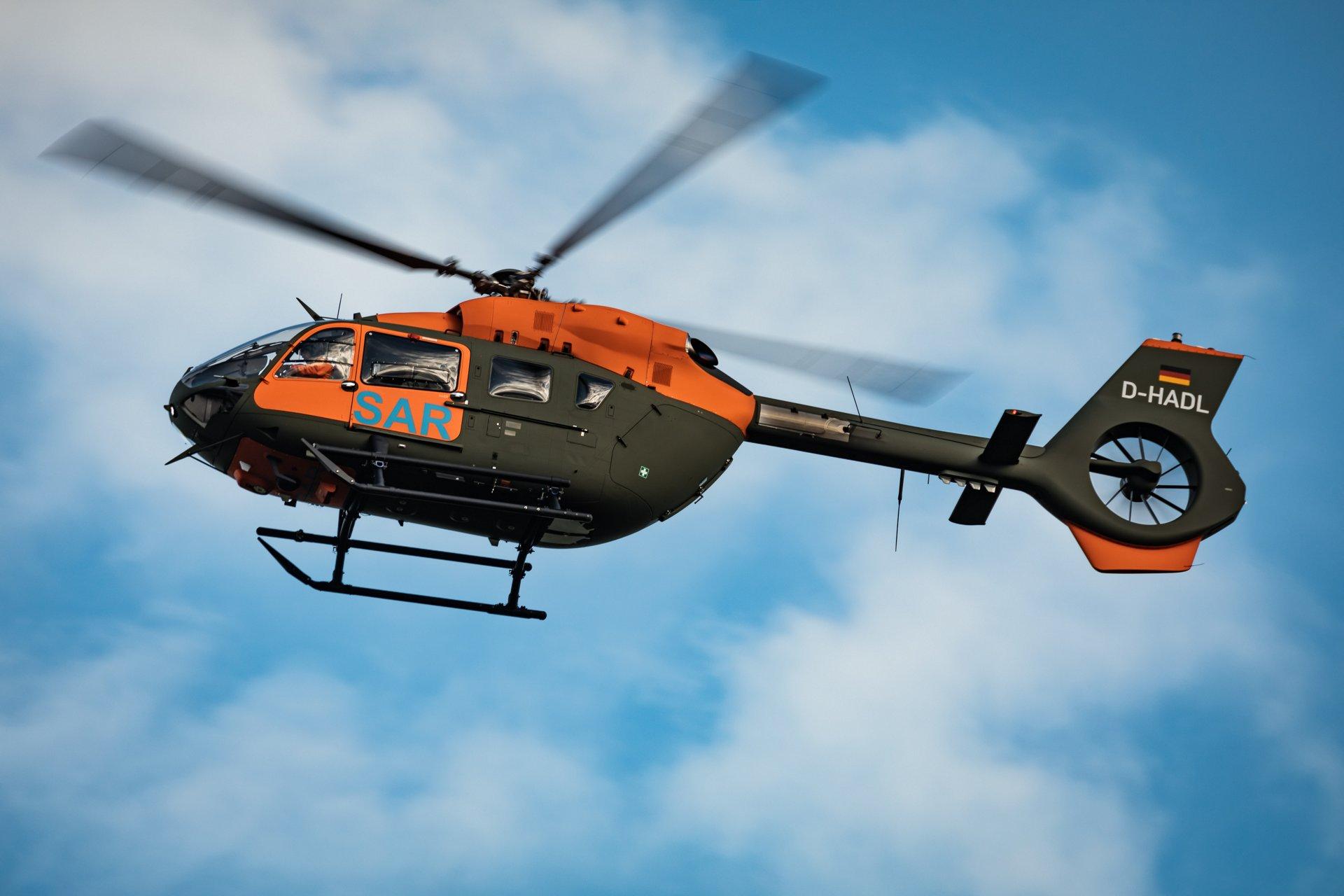 SAR-helikopter van het Duitse leger (Foto Airbus)