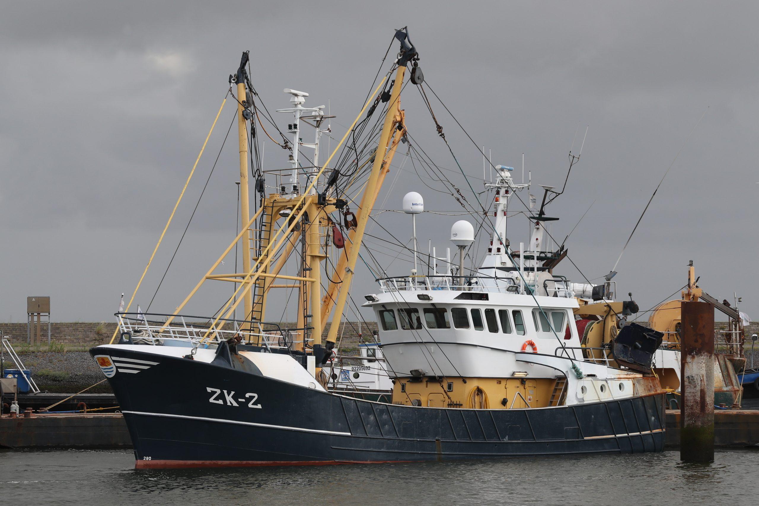 De Eurokotter ZK-2 in haar thuishaven Lauwersoog