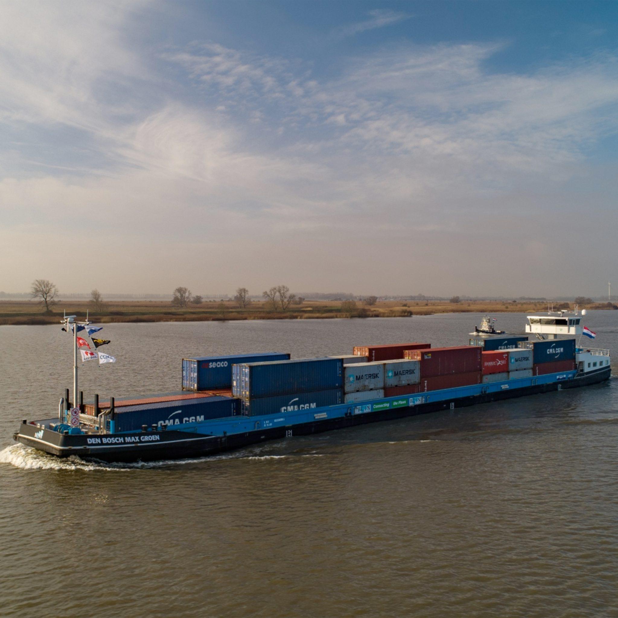 De Den Bosch Max Groen moet net als de Den Bosch Max Blauw en de Nijmegen Max in de toekomst volledig elektrisch kunnen gaan varen. (Foto Concordia Damen)