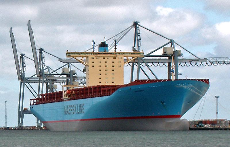 De Maersk Emma is een van de schepen die in aanmerking komt voor een retrofit. (Foto Wikipedia)