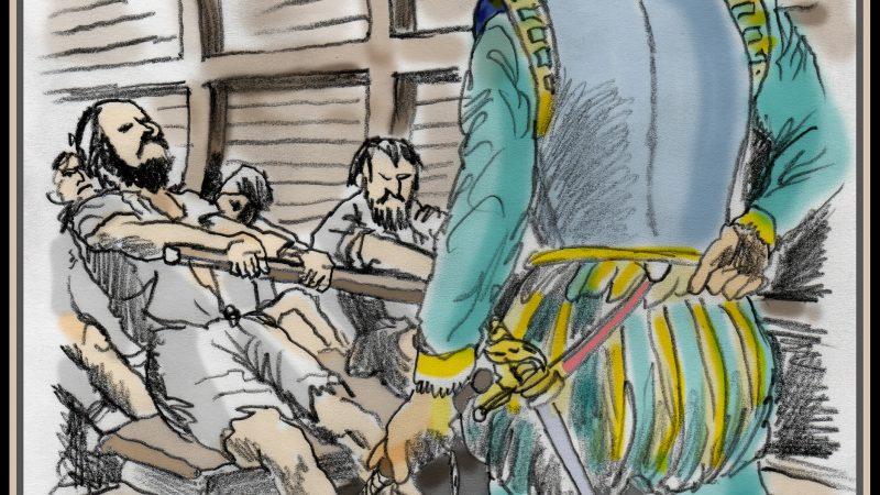 Het lot van de galeislaaf heeft menig kunstenaar geïnspireerd en werd ook gebruikt om de slechtheid van bijvoorbeeld de Spanjaarden aan te tonen. Maar de Nederlanders deden het niet veel beter.