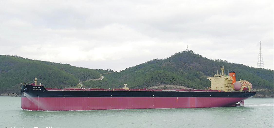 De HL Green is de eerste capesizer met LNG-voorstuwing. (Foto MarineTraffic)