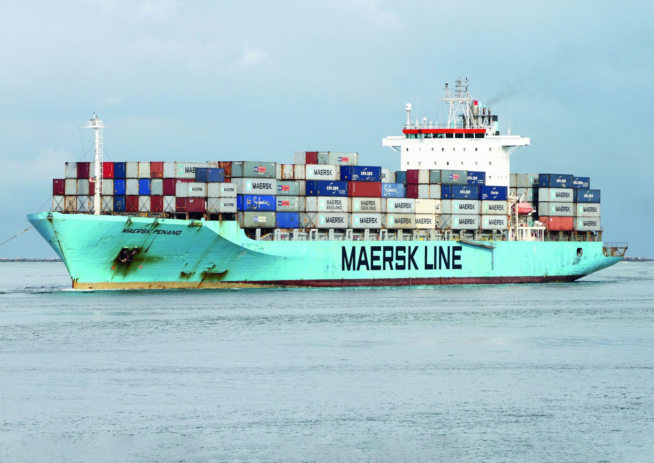 De Maersk Penang behoorde ooit tot de vloot van P&O Nedlloyd en is eind vorig jaar met vier andere schepen uitgevlagd naar Liberia. Foto: Maersk