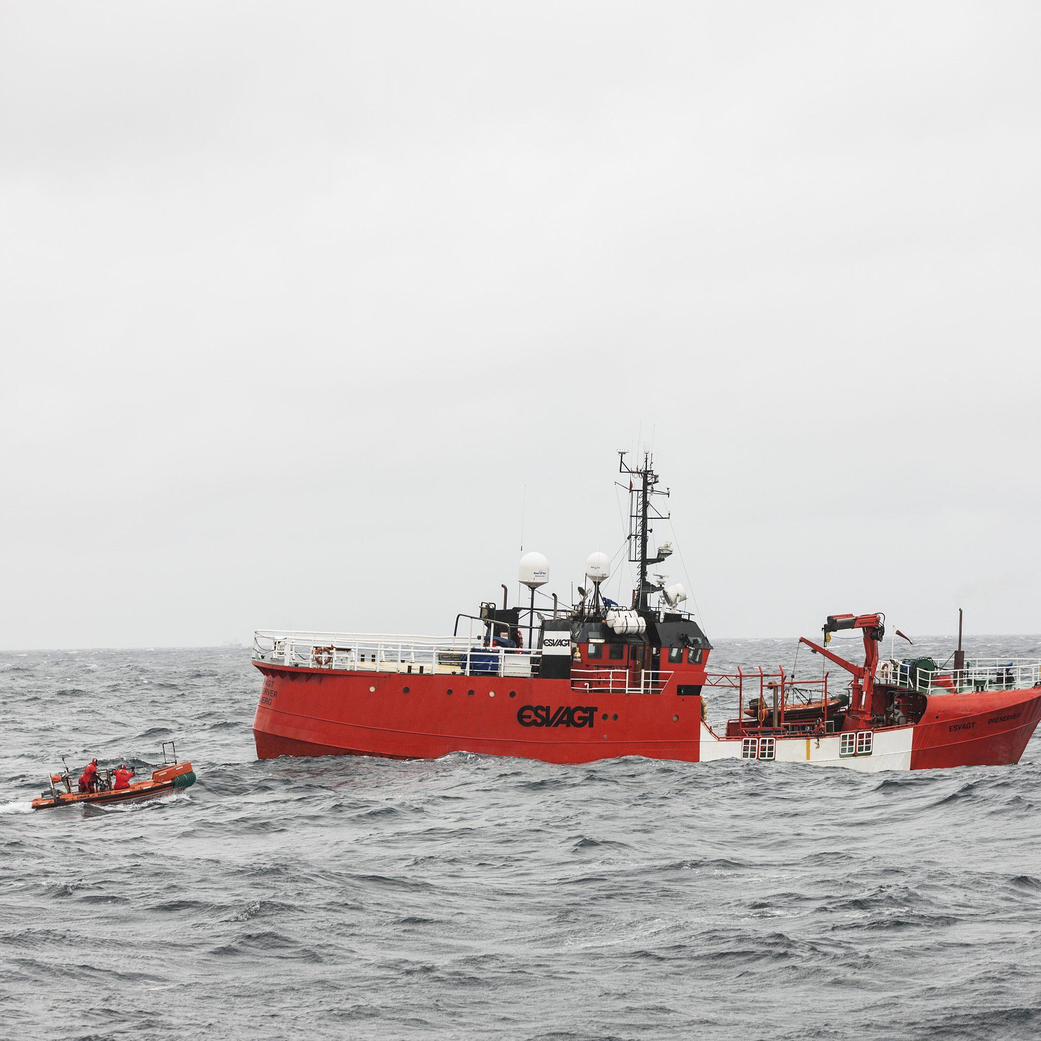 De Esvagt Preserver, 30 jaar in actie op de Noordzee zonder een dag verzuim vanwege een ongeval. (Foto Esvagt)
