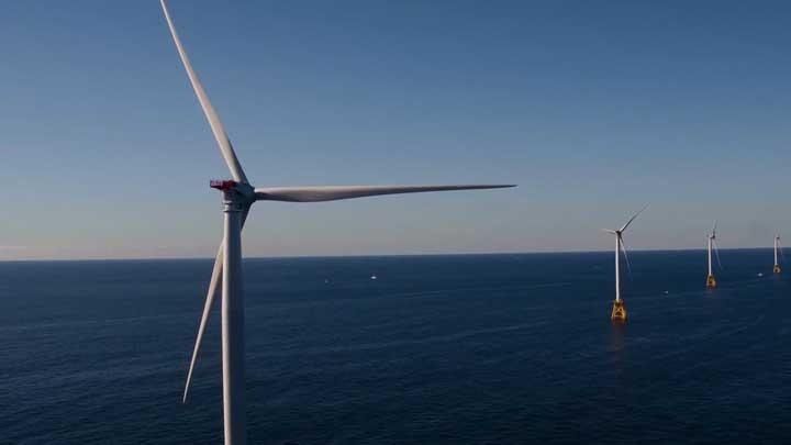 Afgelopen jaar werden een aantal windparken voor de Nederlandse kust aangesloten. (Foto NT)