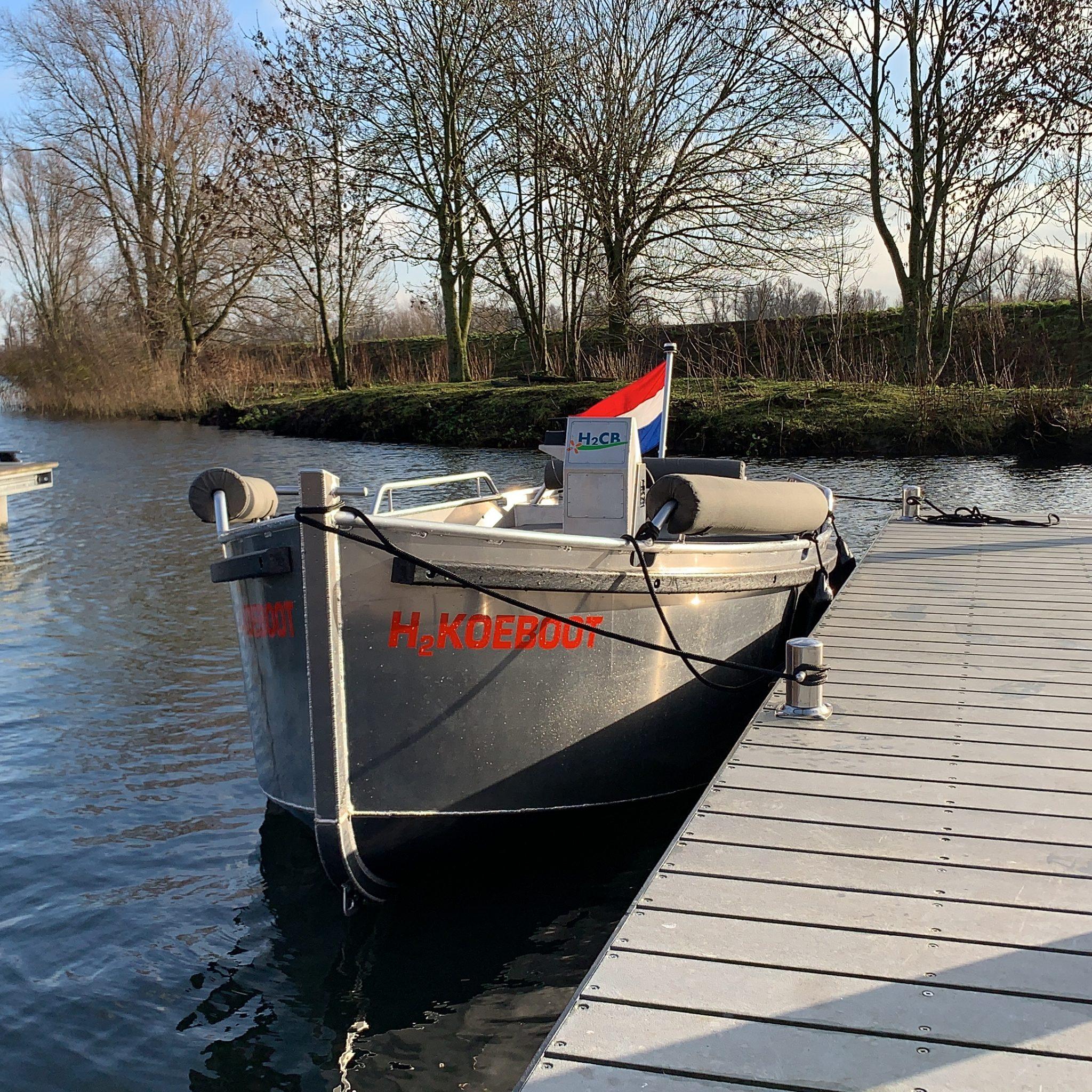De H2Koeboot van Jacco en Sander. (Privéfoto)