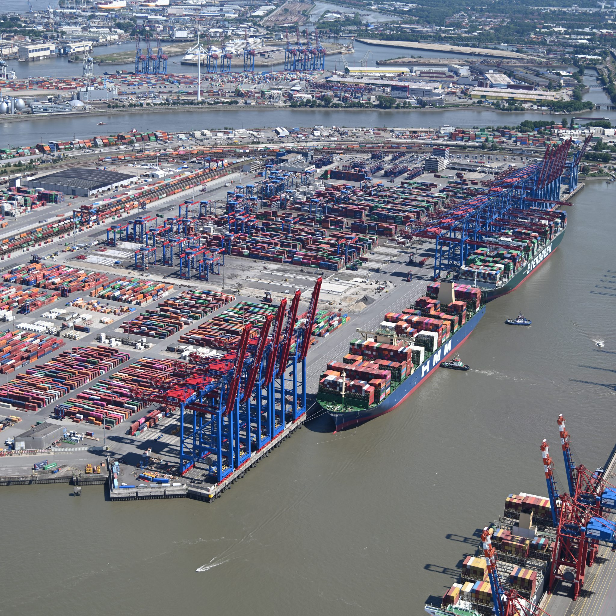 De haven van Hamburg (Foto Port of Hamburg)