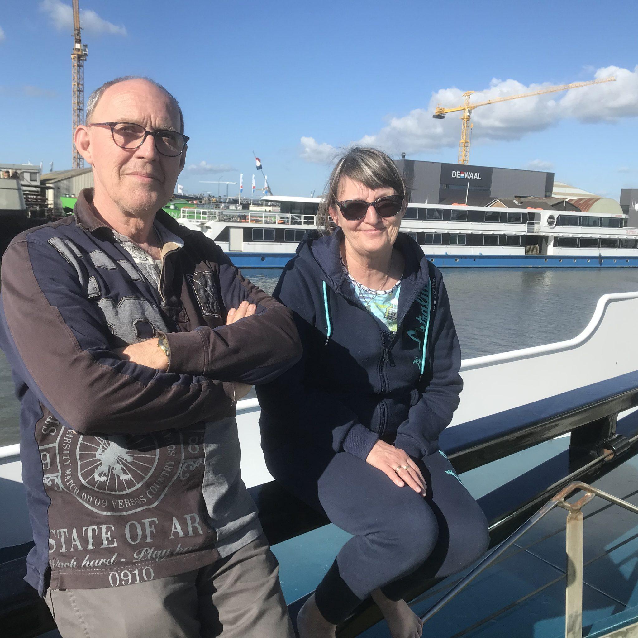 Corstiaan en Betsy Heijns: 'Straks gaan we elk jaar overwinteren in een warm land.' Foto Hannie Visser-Kieboom