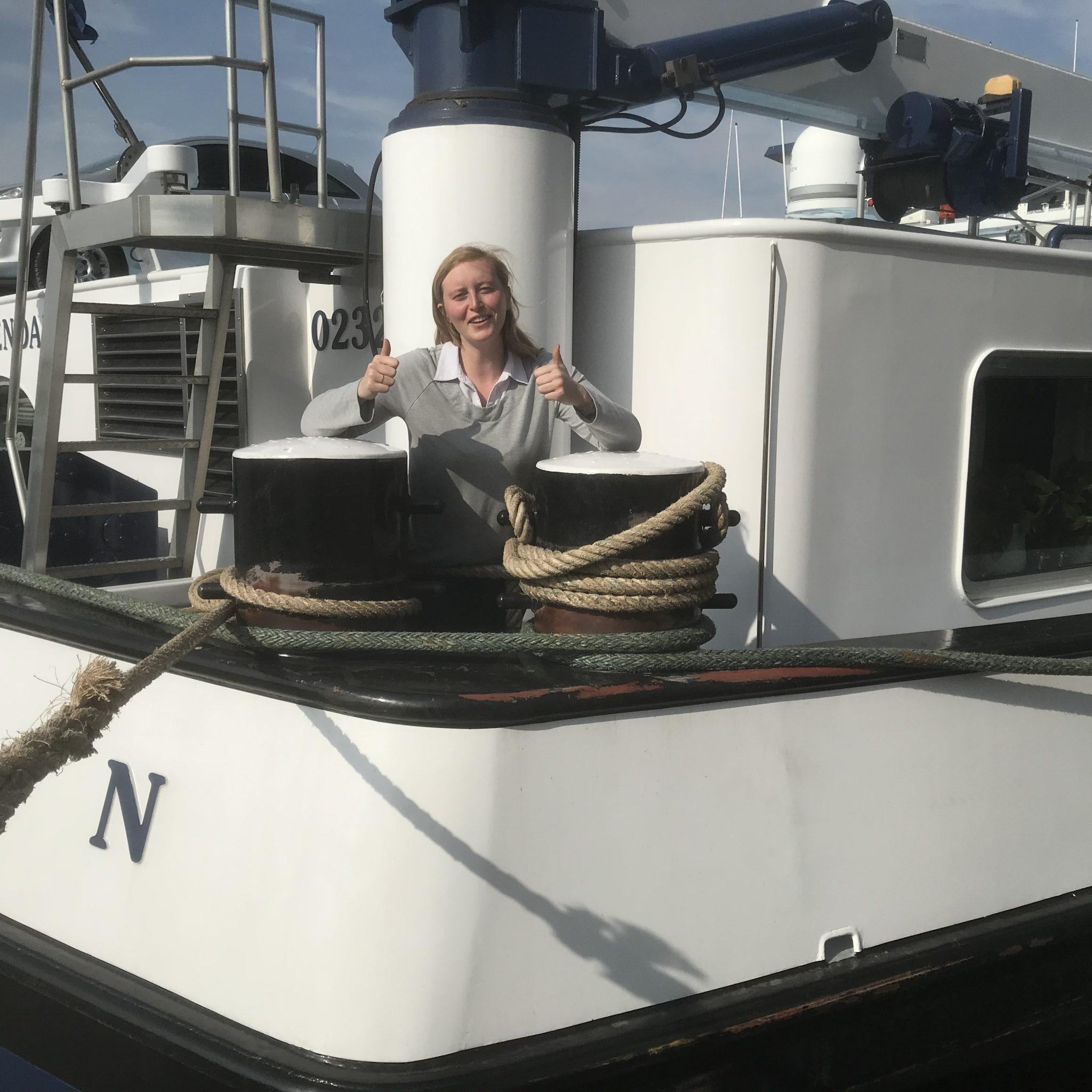 Whitney Boeckx is schipper maar nog lang niet uitgeleerd. 'Vorig jaar heb ik voor het eerst zelf een reis aangenomen.' Foto Hannie Visser-Kieboom