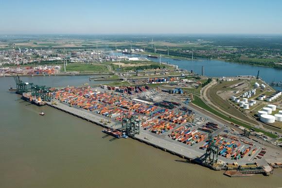 De diepgang in de Europa Terminal wordt vergroot (Foto: Port of Antwerp)
