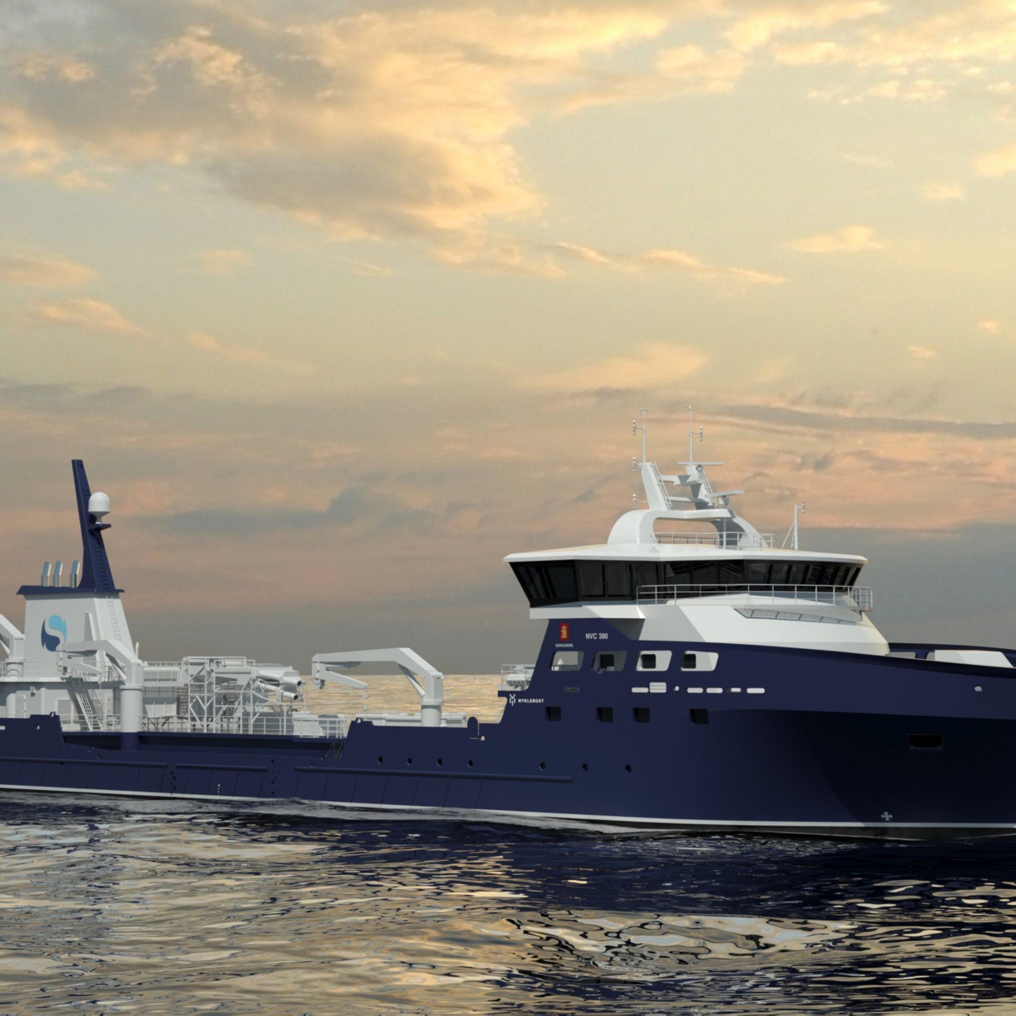 Dit is hoe de live fish carrier van Kongsberg er uit moet komen te zien. (Beeld Kongsberg Maritime)