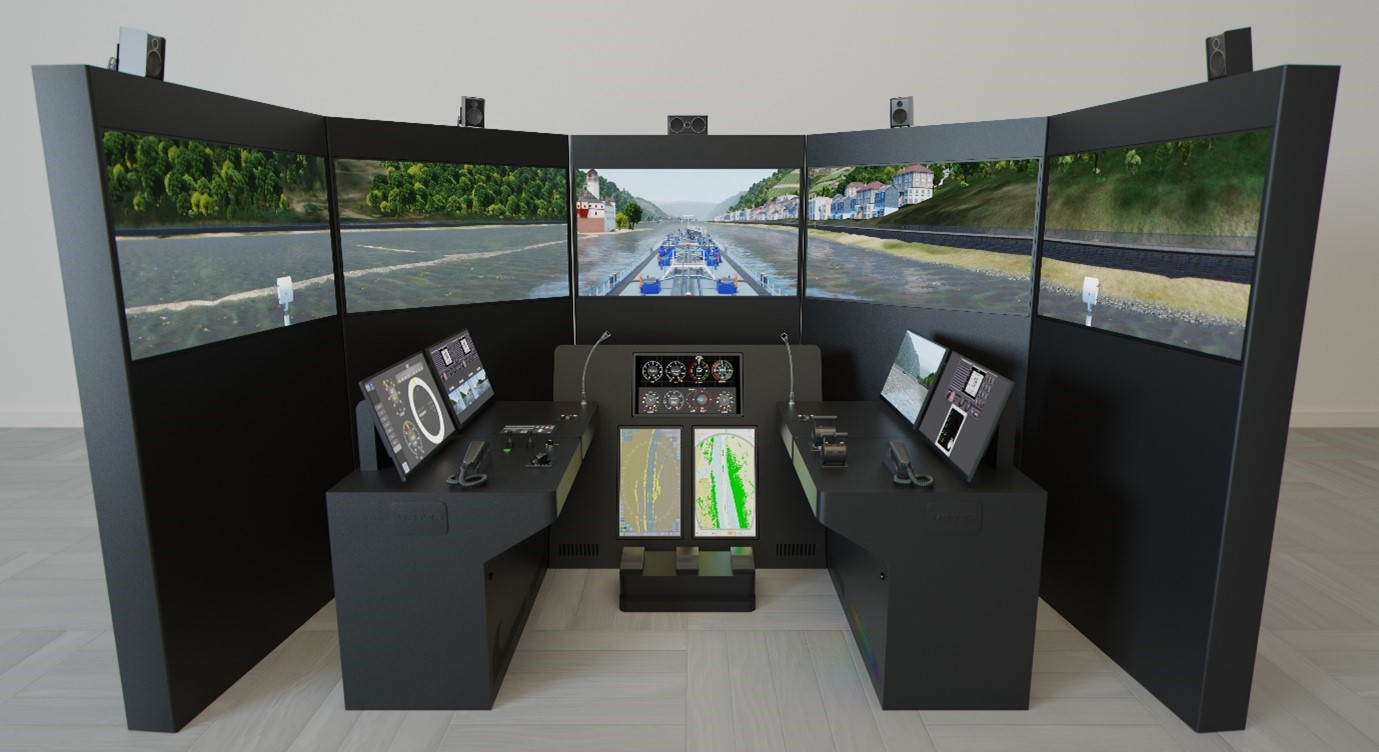 De nieuwe zee- en binnenvaartsimulatoren moeten studenten nog beter voorbereiden op de praktijk. (Foto ROC Friese Poort)