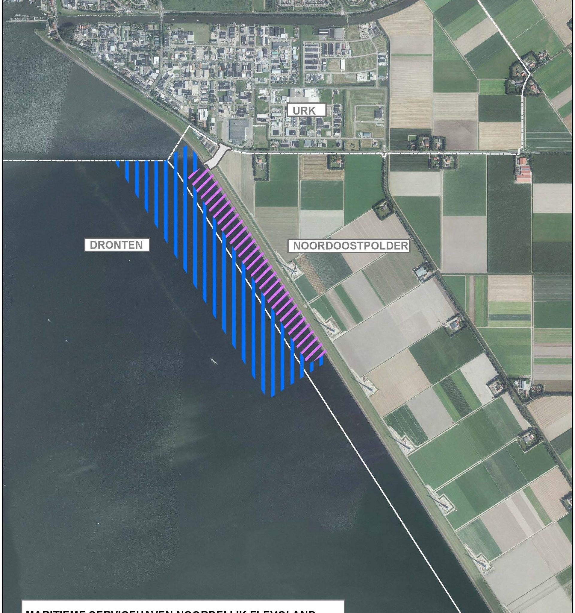 Plattegrond Maritieme Servicehaven Urk Bron provincie Flevoland