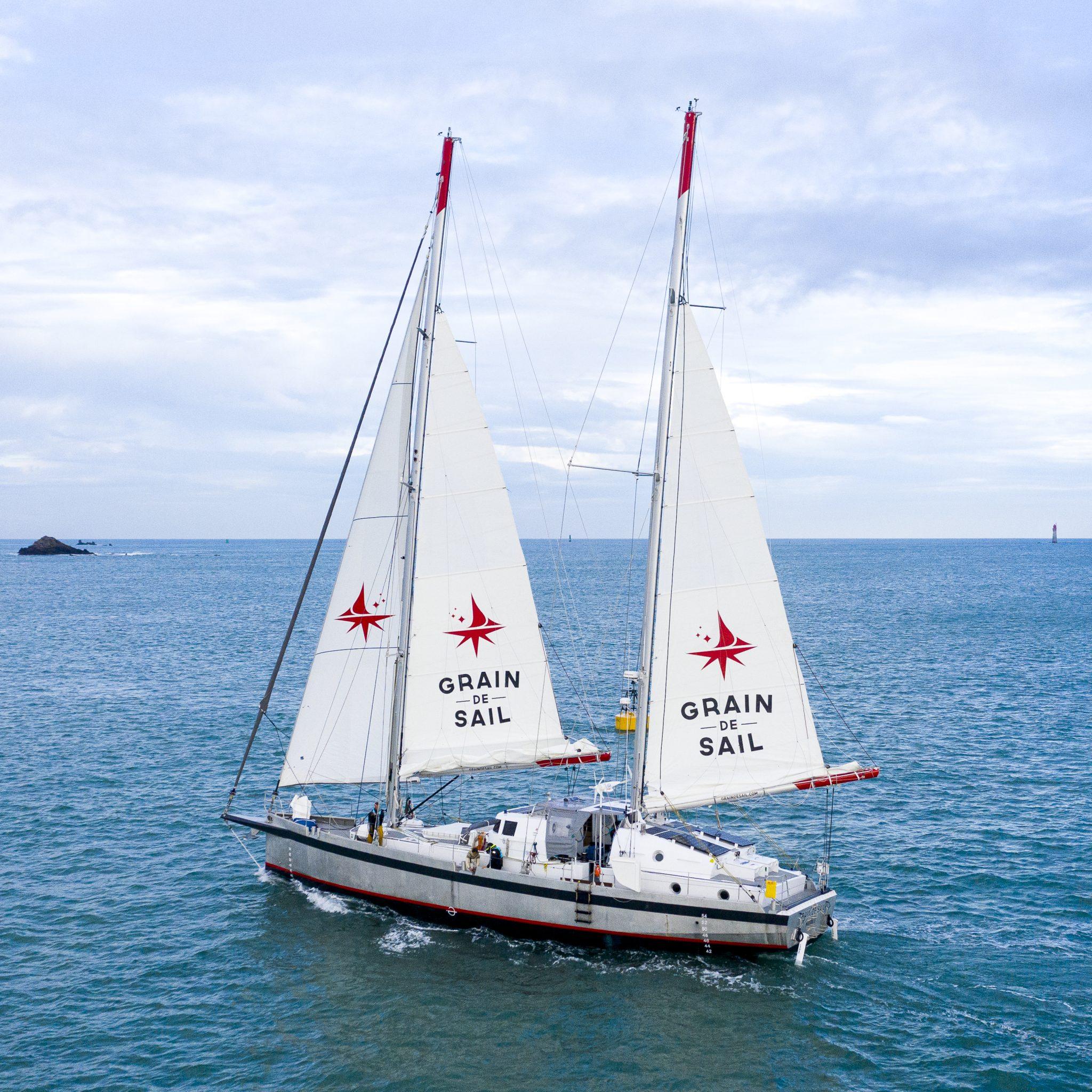 Het Franse 'vrachtzeiljacht' Grain de Sail.