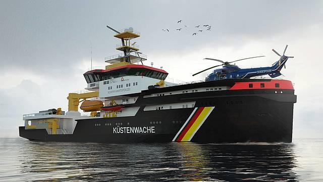De kustwachtschepen krijgen een Schottel-aandrijving. (Foto kustwacht)