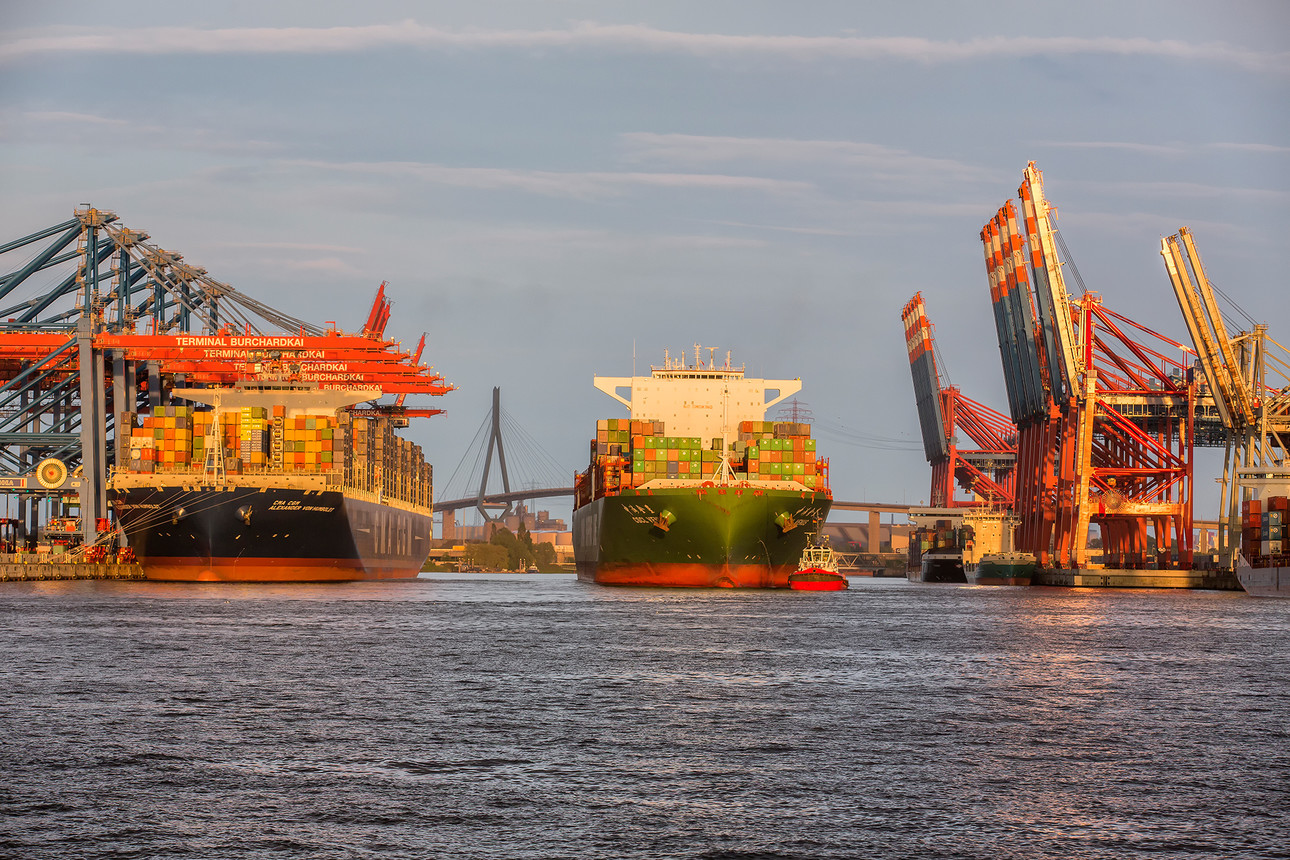 De haven van Hamburg werd flink geraakt door corona laten de jaarcijfers zien (Foto: Hafen Hamburg / Peter Glaubitt)