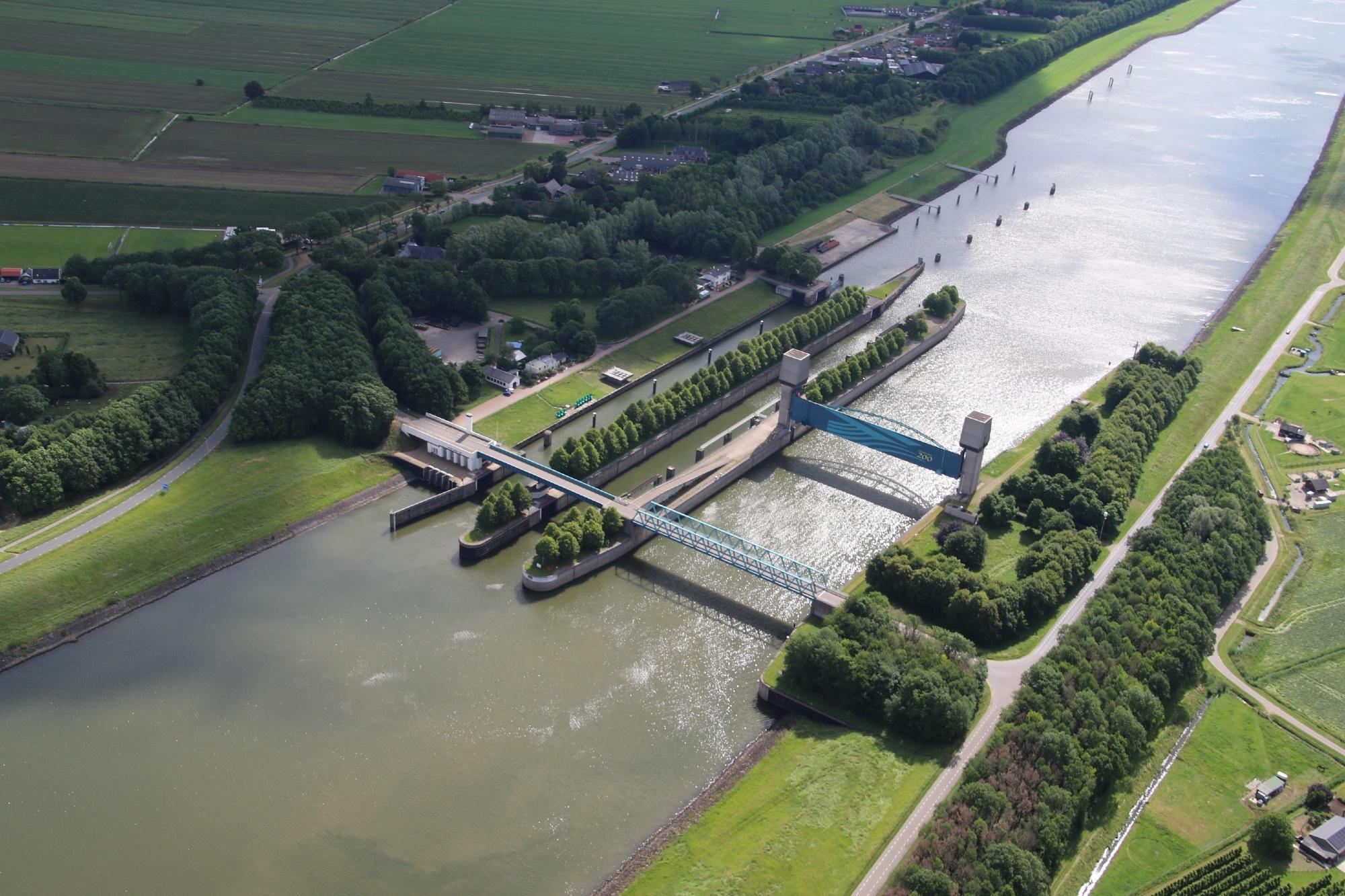 De Prinses Marijkesluis wordt negen keer per jaar getest (Foto Rijkswaterstaat)