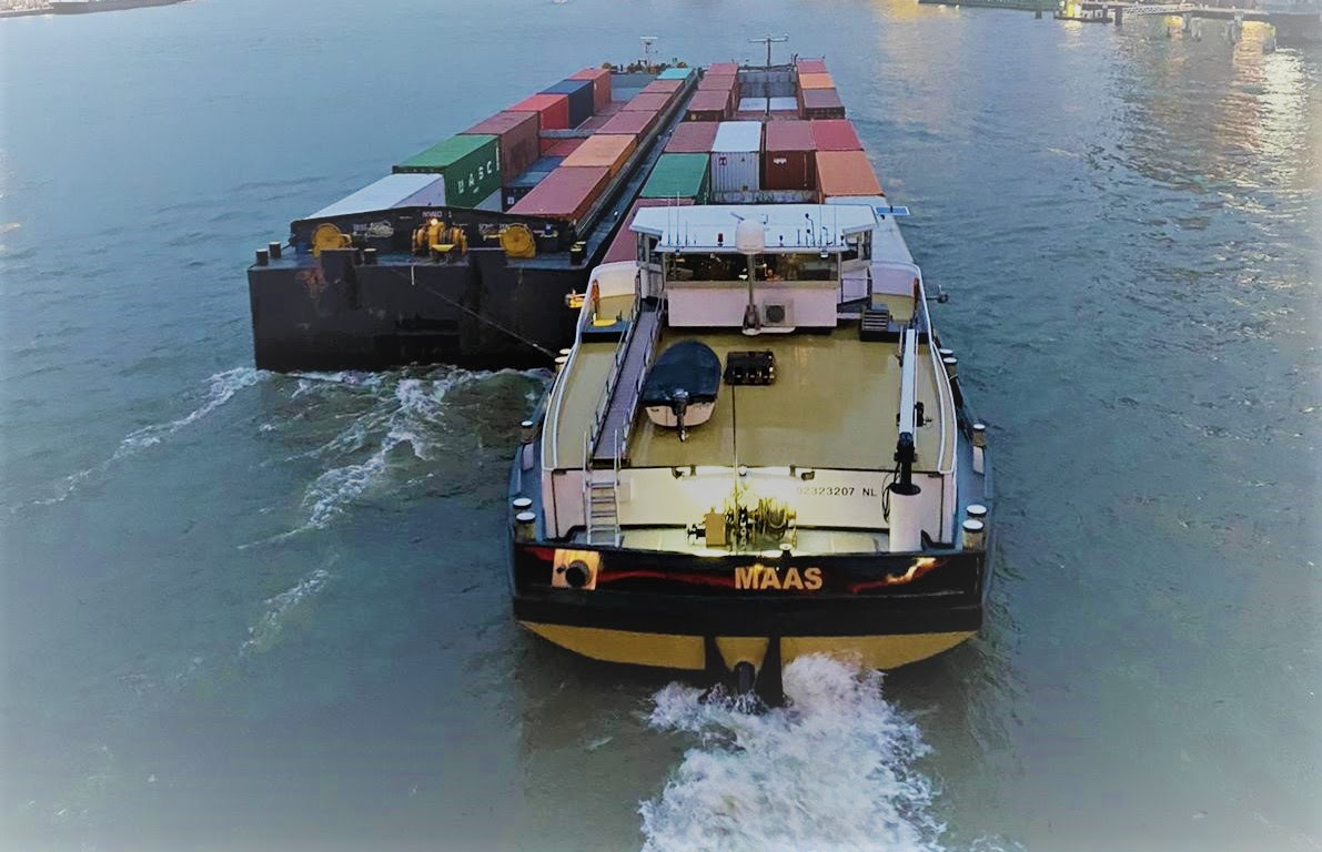 De Maas, die binnenkort compleet op waterstof vaart. (Foto Holland Shipyards)