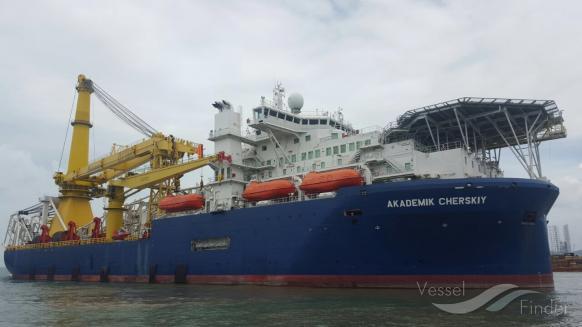 Het Russische Gazprom heeft een tweede pijpenlegger ingezet op het project Nord Stream 2. (Foto Vesselfinder)