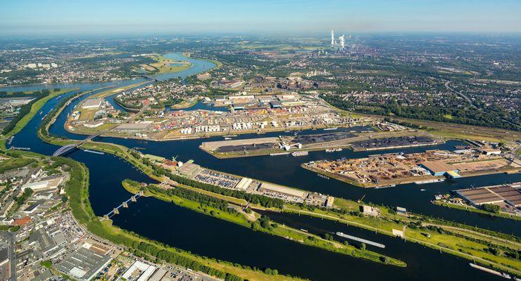 De haven van Duisburg is een van de havens in de deelstaat Noordrijn-Westfalen (Foto: Port of Duisburg / Hans Blossey)