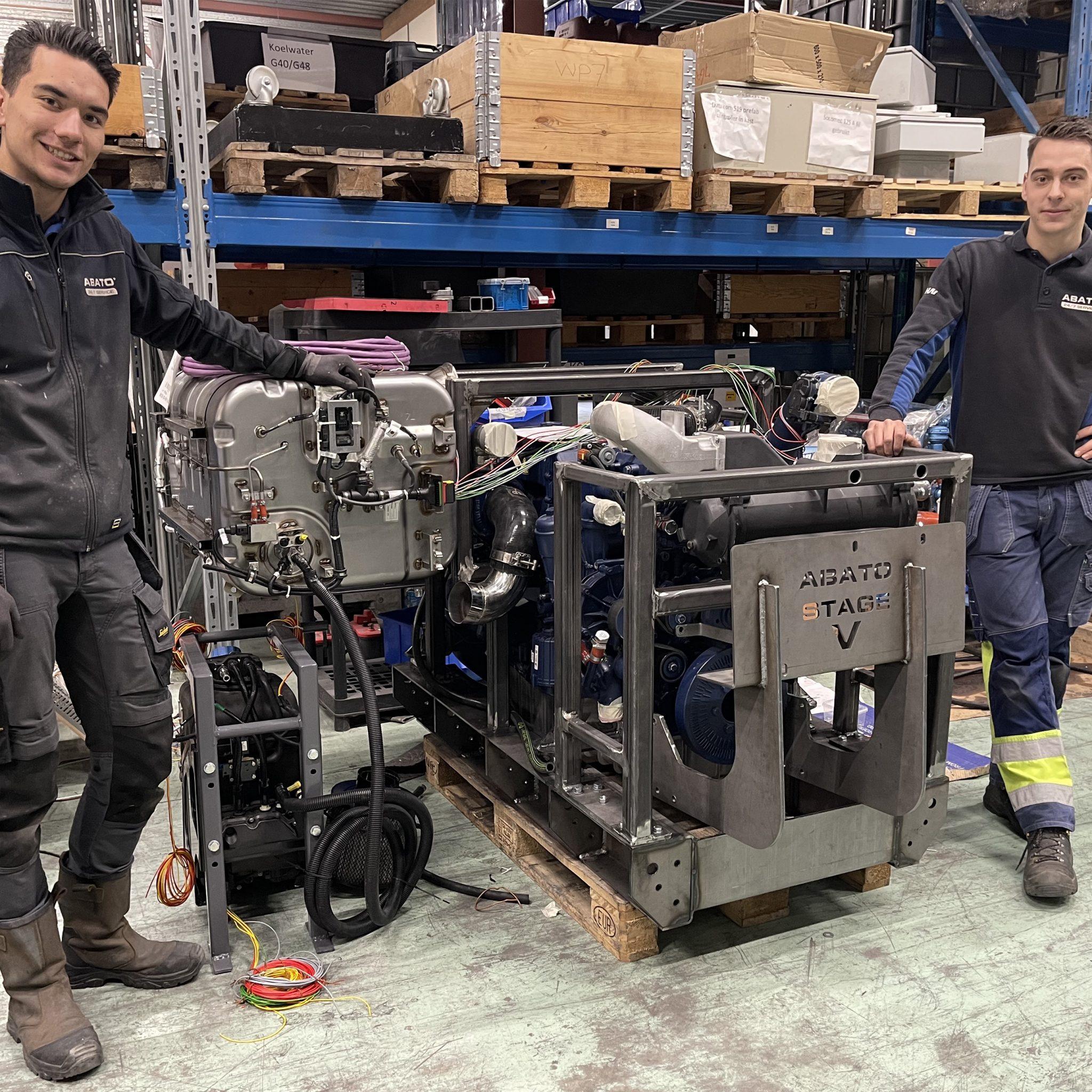 Abato verwacht rond de zomer de certificering van de WP7 Stage V-motor van 300 pk rond te hebben. (Foto's Erik van Huizen)