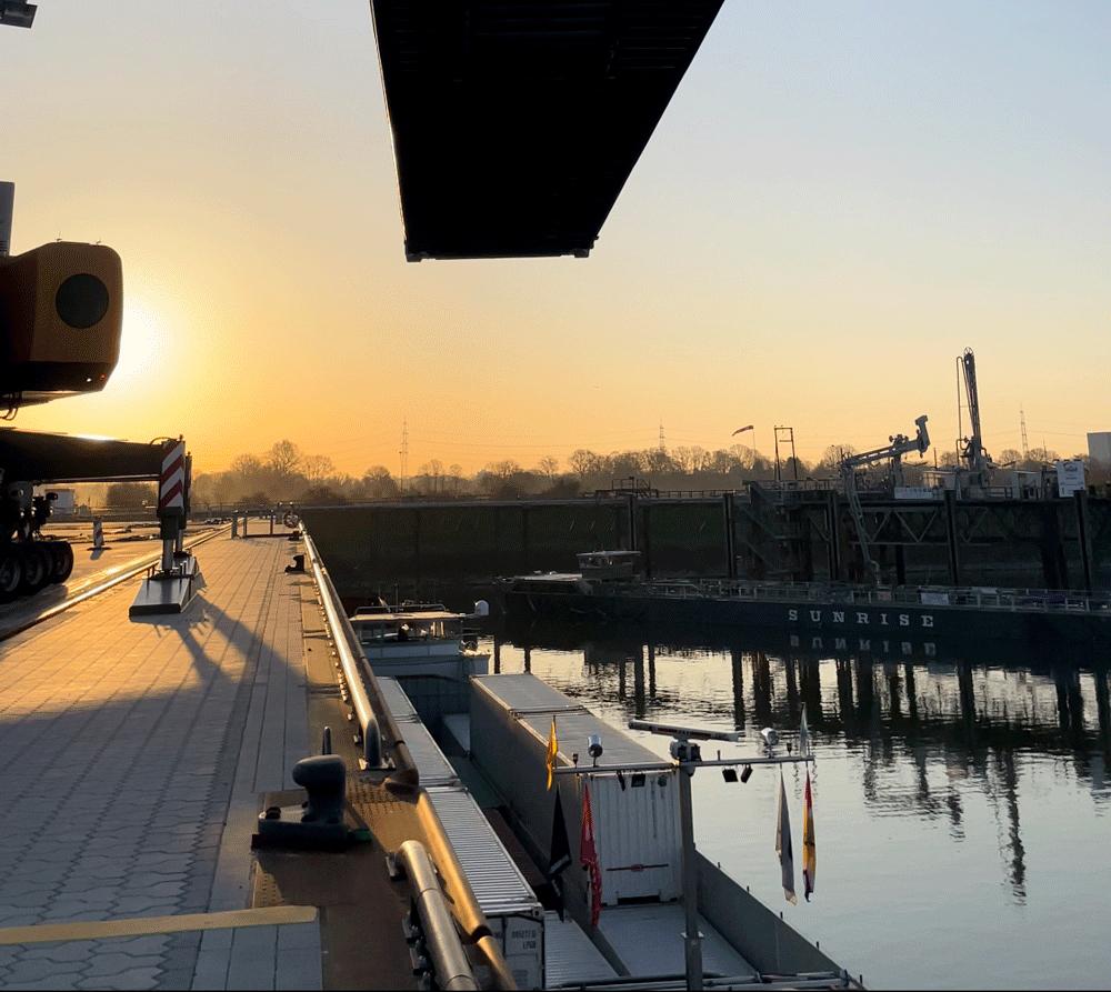Eerste container bij terminal Nordfrost in Wesel (Foto Nordfrost)